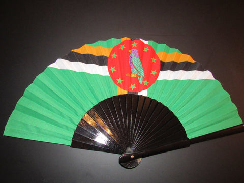 Dominica Flag Fan