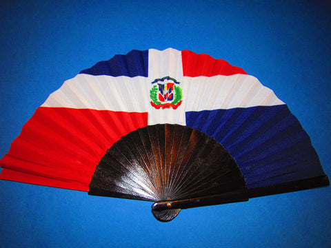 Dominican Republic Flag Fan