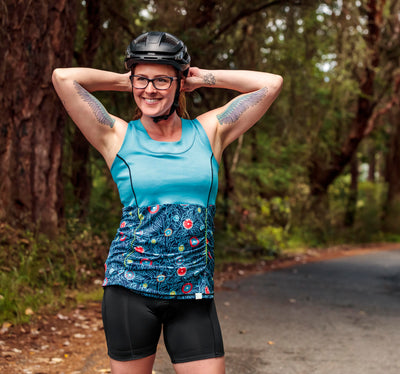 Abbey Cycling Tank Top, Turquoise