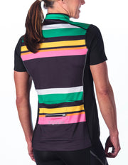 Beth Short Sleeve Cycling Jersey, Candy Stripe