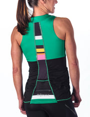 Abbey Cycling Tank Top, Candy Stripe