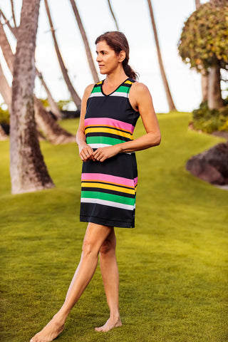 Sleeveless Cycling Dress Candy Stripe