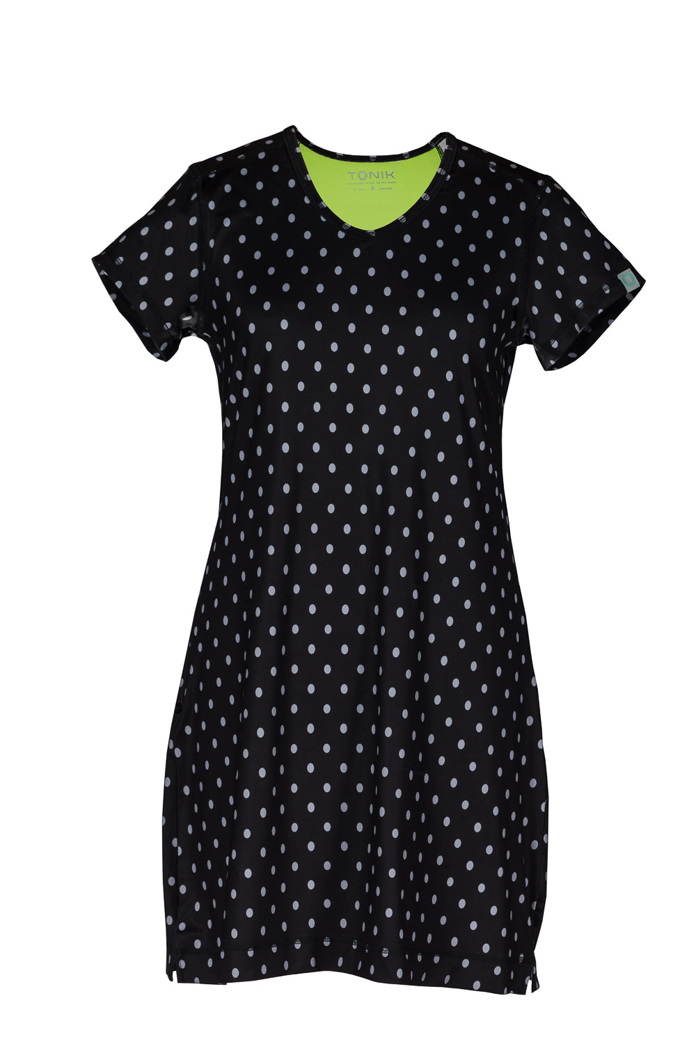 Mary Dress Black Dots