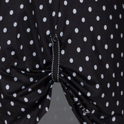 Mary Active Sports Dress, Black Polka Dots
