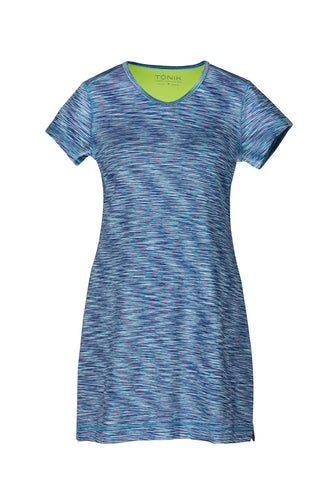 Mary Active Sports Dress, Blue Melange