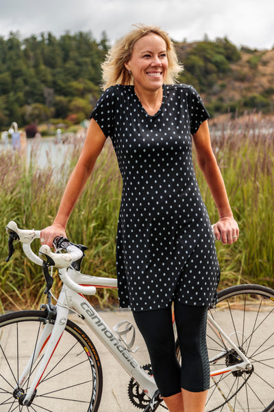 Womens Cycling and Sports Dress - Black