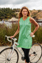 Melanie Active Sleeveless Sports Dress in Lime