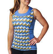 Abbey Women's Cycling Tank Top Blue Chevron