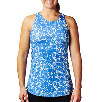 Women's Blue Cycling Tank Top