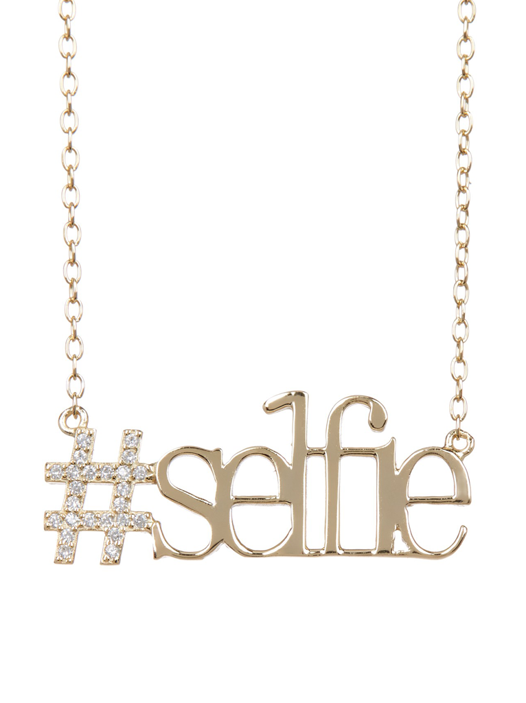 #Selfie Necklace in 14K Gold