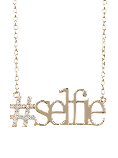 Gold Plated #Selfie Necklace
