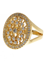 14K Gold Vermeil Lattice Ring
