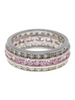 Sterling Silver Paris N' Pink Ring
