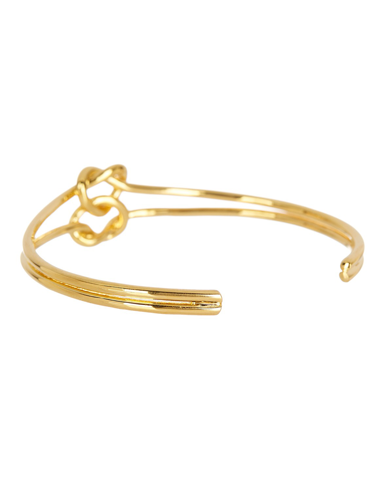 Double Love Knot Cuff Bracelet - Sterling Forever