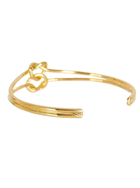 Double Love Knot Cuff Bracelet
