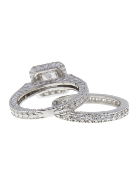 Vintage Luxe Engagement Ring Set - Sterling Forever
