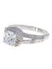 Sterling Silver Cushion Cut Engagement Ring