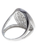 Sterling Silver White CZ Lattice Ring - Sterling Forever