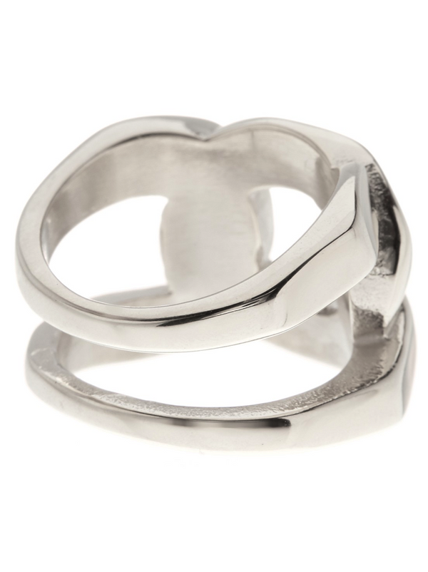 Silver Tone Linked Knot Ring - Sterling Forever
