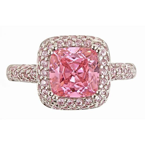 Legacy Ring with Pink Diamond CZs Ring Sterling Forever