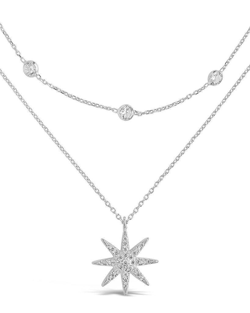 Layered Burst Pendant Necklace - Sterling Forever