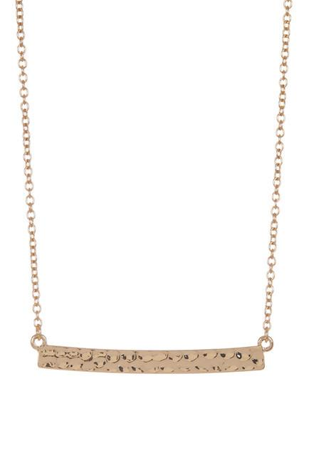 Delicate Textured Gold Bar Necklace - Sterling Forever