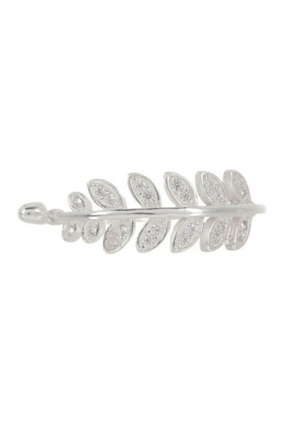 Sterling Silver CZ Leaf Ring Ring Sterling Forever 5 Silver