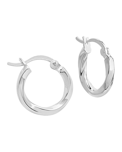 Sterling Silver Classic Twist Hoops Earring Sterling Forever Silver