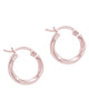 Sterling Silver Classic Twist Hoops
