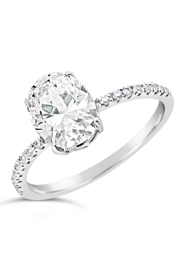 Sterling Silver Cubic Zirconia Oval Ring - Sterling Forever
