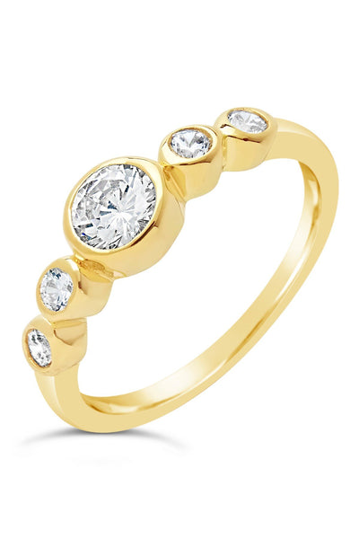 14K Gold Vermeil Bubble CZ Band Ring