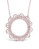 Sterling Silver Lace Circle Pendant - Sterling Forever