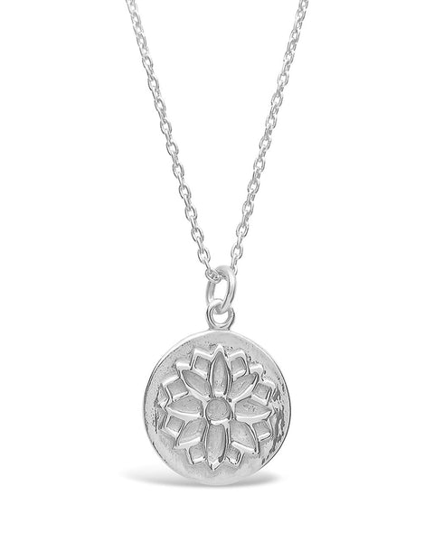 Sterling Silver Blossom Pendant Necklace Sterling Forever Silver
