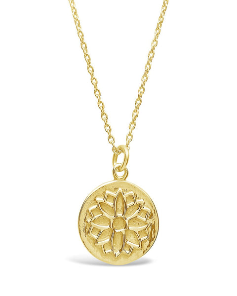 Sterling Silver Blossom Pendant Necklace Sterling Forever Gold