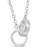 Interlocking Circle Necklace - Sterling Forever