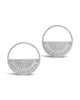 Medallion Half Circle Studs - Sterling Forever