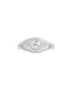 Sterling Silver Starry Nights Eye Signet Ring
