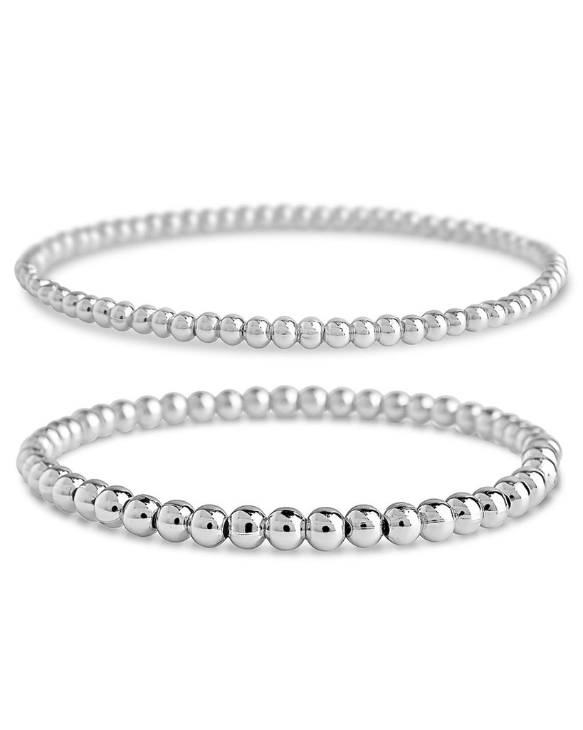 Beaded Stretch Bracelet Sets - Sterling Forever