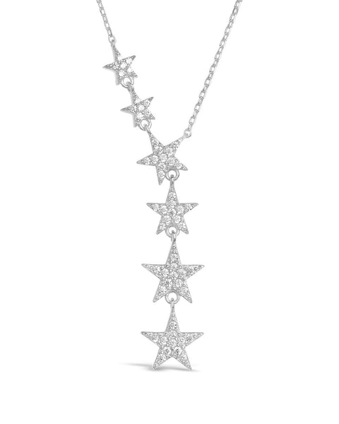 CZ Star Y Necklace Necklace Sterling Forever Silver