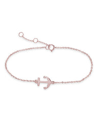 Sterling Silver Anchor Bracelet - Sterling Forever