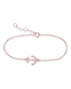 Sterling Silver Anchor Bracelet Bracelet Sterling Forever Rose Gold