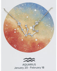 Silver 'When Stars Align' Constellation Necklaces