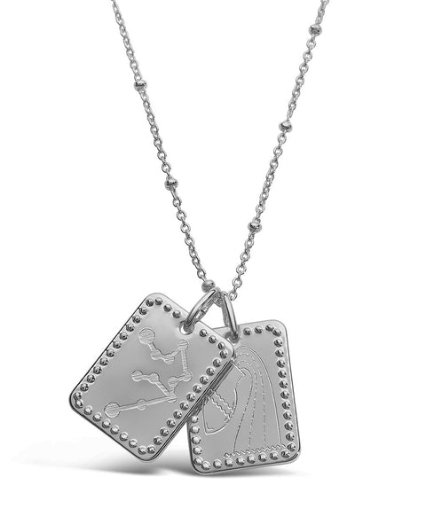 Zodiac Tag Necklace Necklace Sterling Forever Silver Aquarius (Jan 20 - Feb 18)