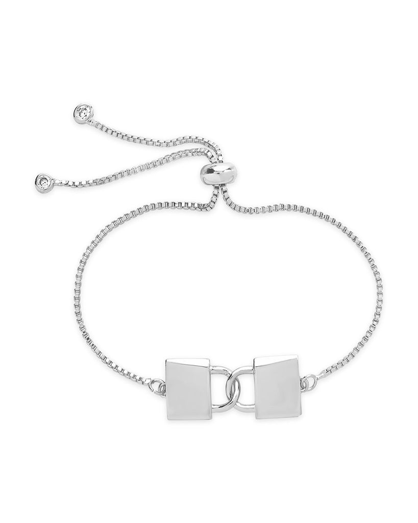 Interlocking Lock Slider Bracelet - Sterling Forever