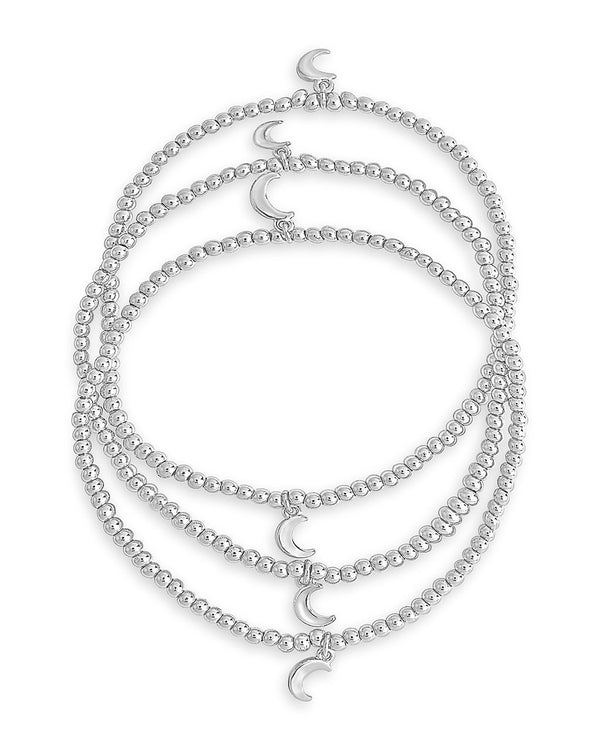 Crescent Stretch Bracelet Set of 3 - Sterling Forever