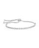 Bezel CZ Adjustable Bracelet - Sterling Forever