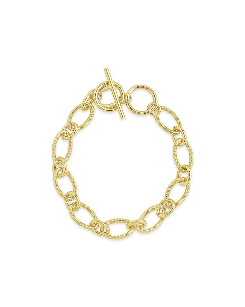 Chain Linked Toggle Bracelet - Sterling Forever