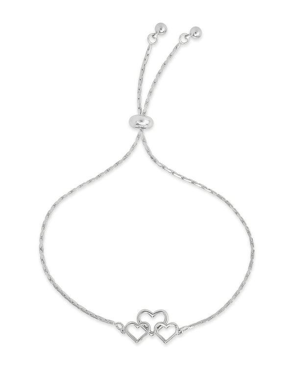 Interlocking Heart Slider Bracelet - Sterling Forever