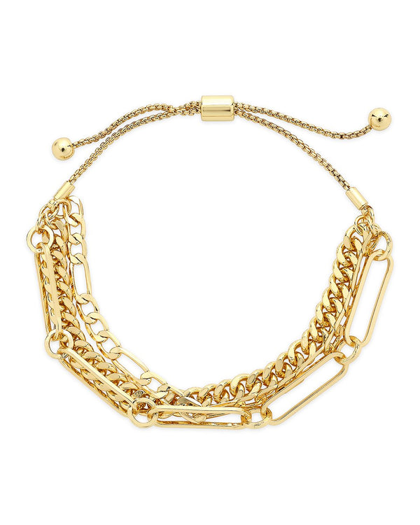 Layered Chain Bolo Bracelet Bracelet Sterling Forever Gold