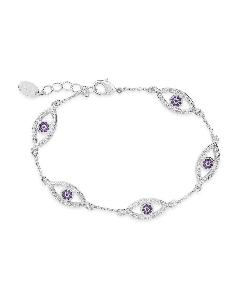 Evil Eye Bracelet with CZ Bracelet Sterling Forever